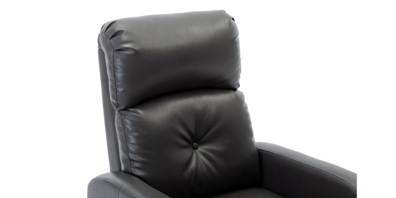 Milton Faux Leather Push Back Recliner Chair in Grey IMG