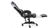 GTForce Turbo Gaming Chair with Recline and Footrest in Black and White Image 2