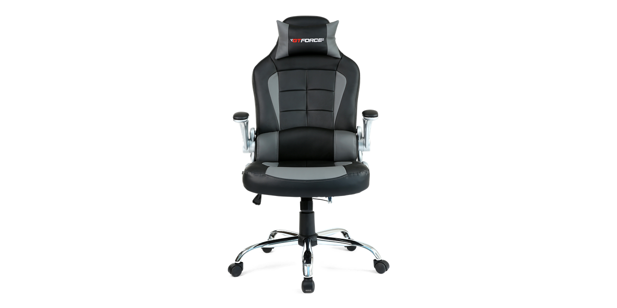 GTForce Blaze Gaming Chair with Recline in Black and Grey IMG