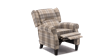 Eden Fabric Recliner Armchair in Beige Tartan Image 3
