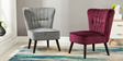 Aylenne Accent Chair in Purple Velvet Image 8