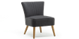 Annika Accent Chair in Charcoal Linen Image 3