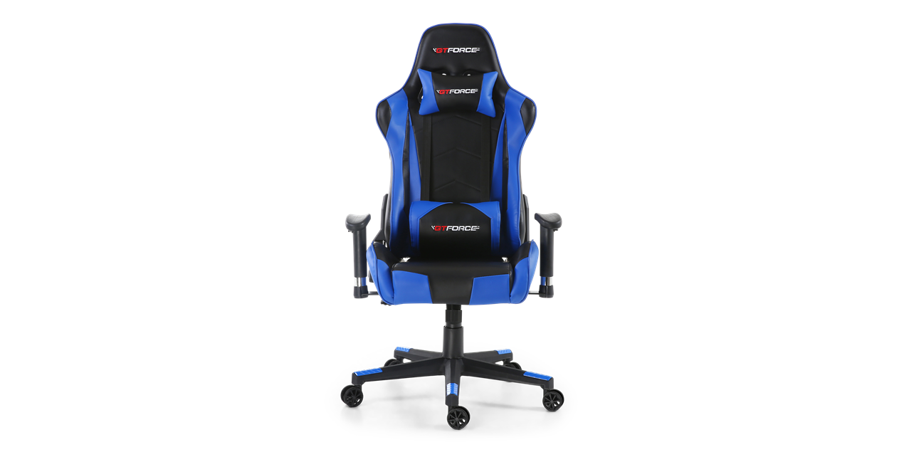 Gtforce Pro Fx Gaming Chair With Recline In Black Blue