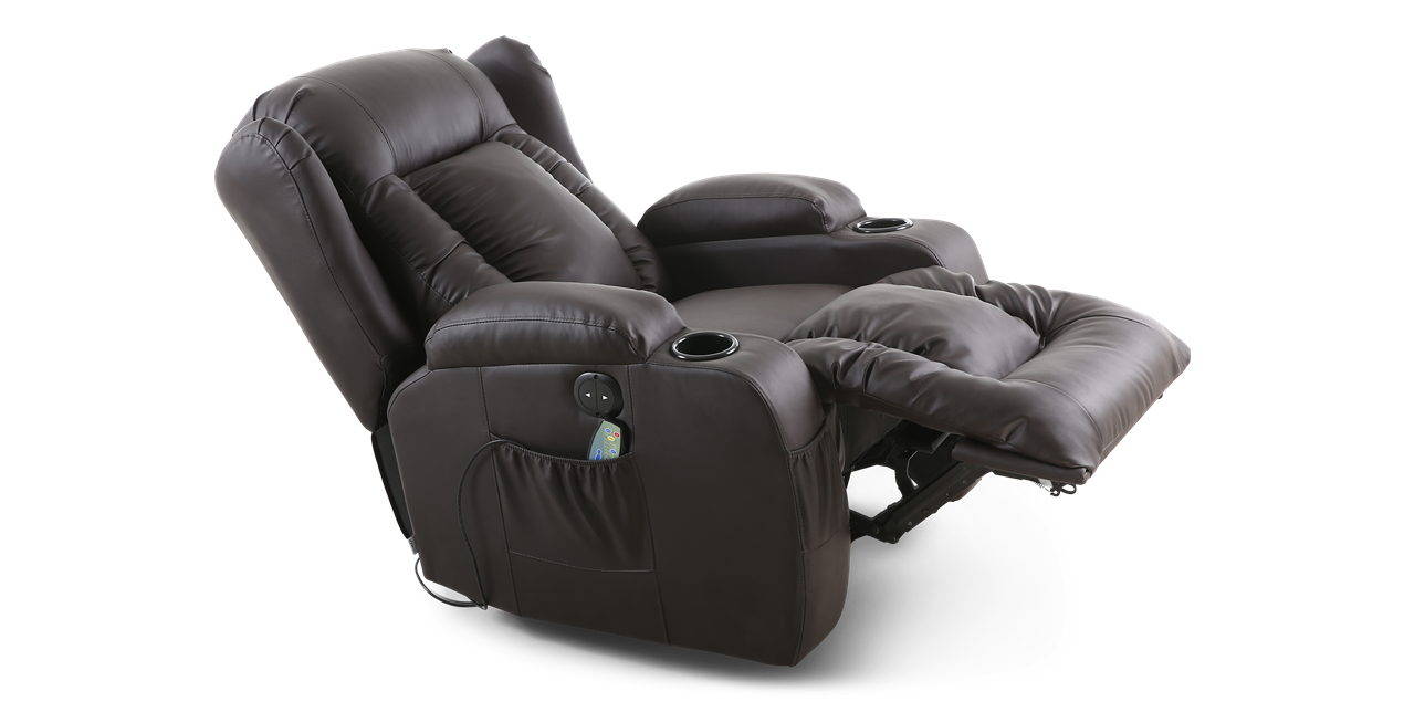 Rockingham Leather Electric Recliner Chair With Massage