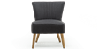 Annika Accent Chair in Charcoal Linen Image 5