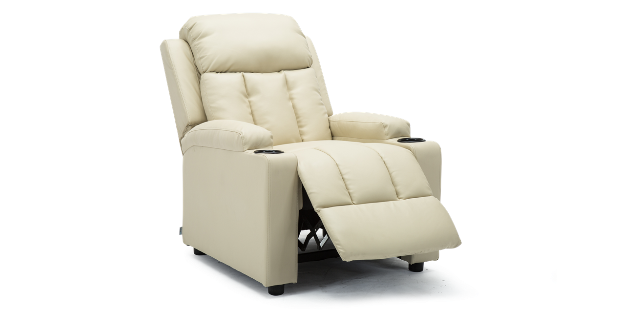 Brilliant Attenborough Compact Push Back Leather Recliner Chair In Cream Andrewgaddart Wooden Chair Designs For Living Room Andrewgaddartcom