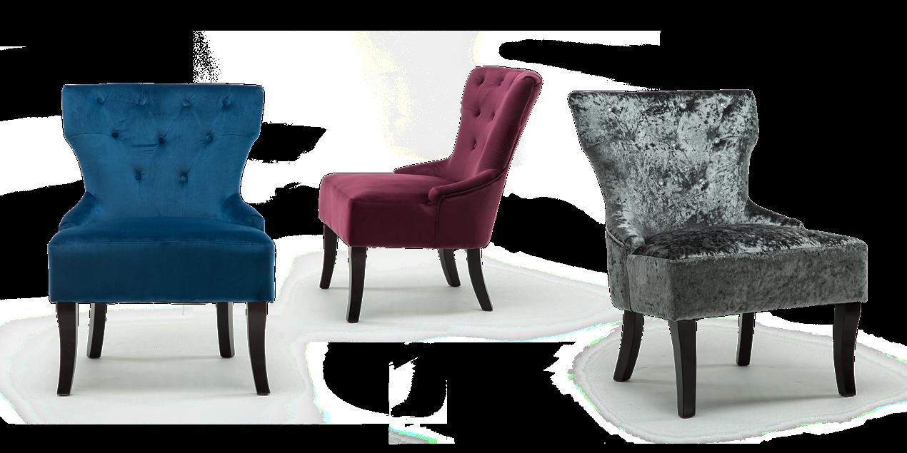 Reyna Accent Chair In Purple Velvet