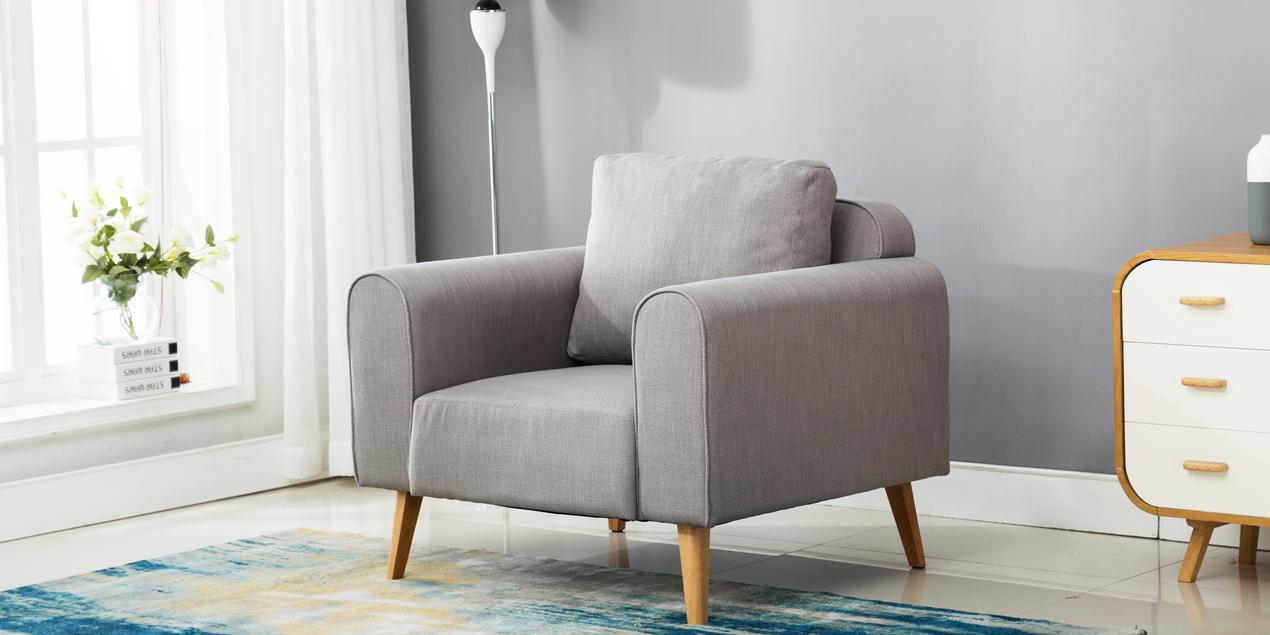 jakob armchair in grey linen