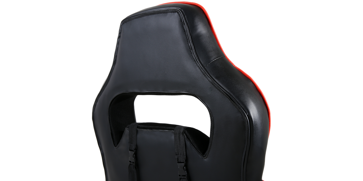 GTForce Pace Gaming Chair with Recline and Footrest in Black and Red IMG