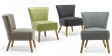 Annika Accent Chair in Charcoal Linen Image 2