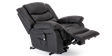 Cheshire Leather Rise Recliner Chair in Black Image 6