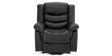 Cheshire Leather Rise Recliner Chair in Black Image 1