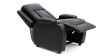 Cameron Leather Push Back Recliner Chair in Black Image 6