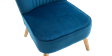 Lydia Accent Chair in Sapphire Blue Velvet Image 4