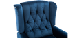 Ascott Recliner Armchair in Midnight Blue Velvet Image 1