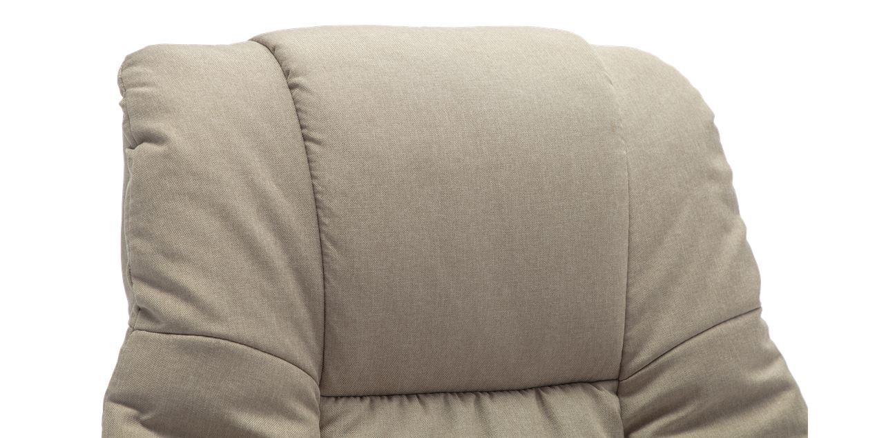 Berkeley Fabric Swivel Recliner Chair with Foot Stool in Pumice IMG