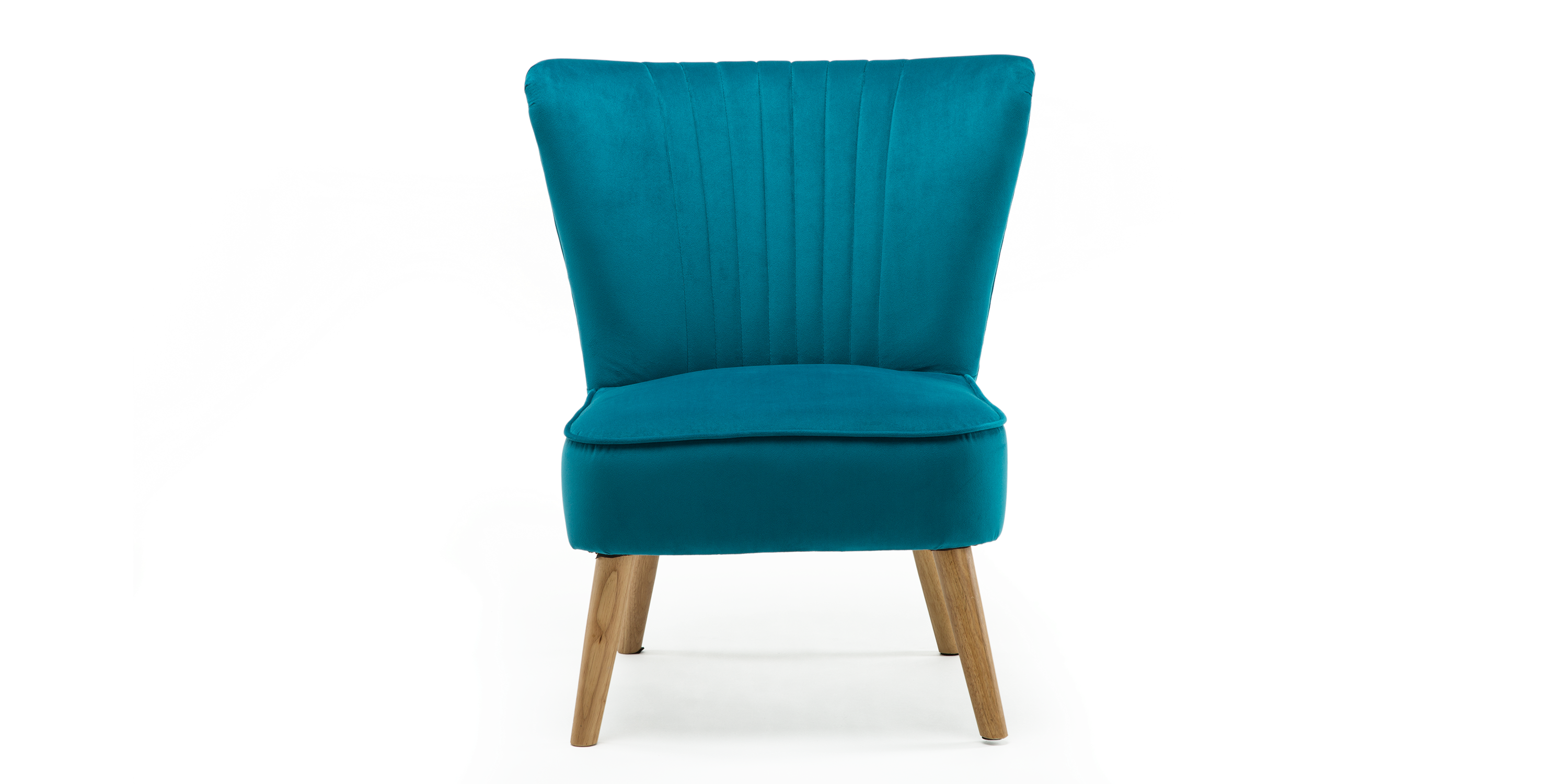Lydia Accent Chair In Teal Velvet