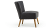 Annika Accent Chair in Charcoal Linen Image 4