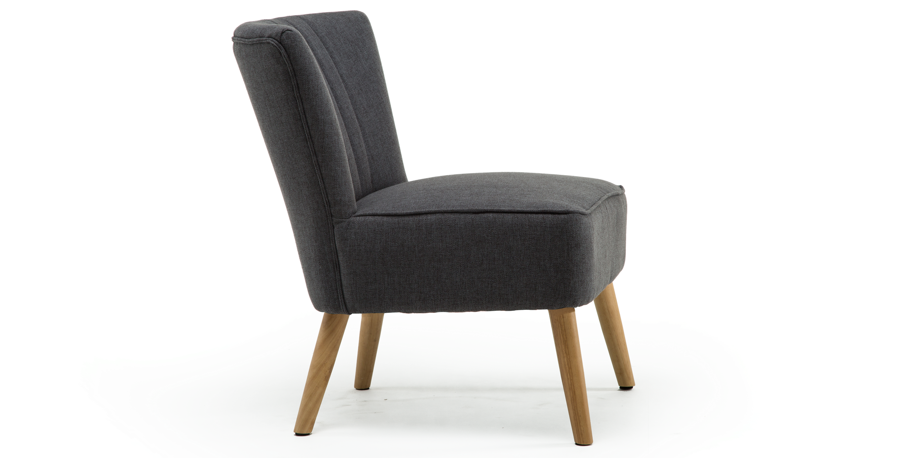 Annika Accent Chair In Charcoal Linen