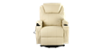 Cinemax Leather Rise Recliner Chair with Massage and Heat in Cream Image 1