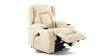 Rockingham Leather Rise Recliner Chair with Massage and Heat in Cream Image 1