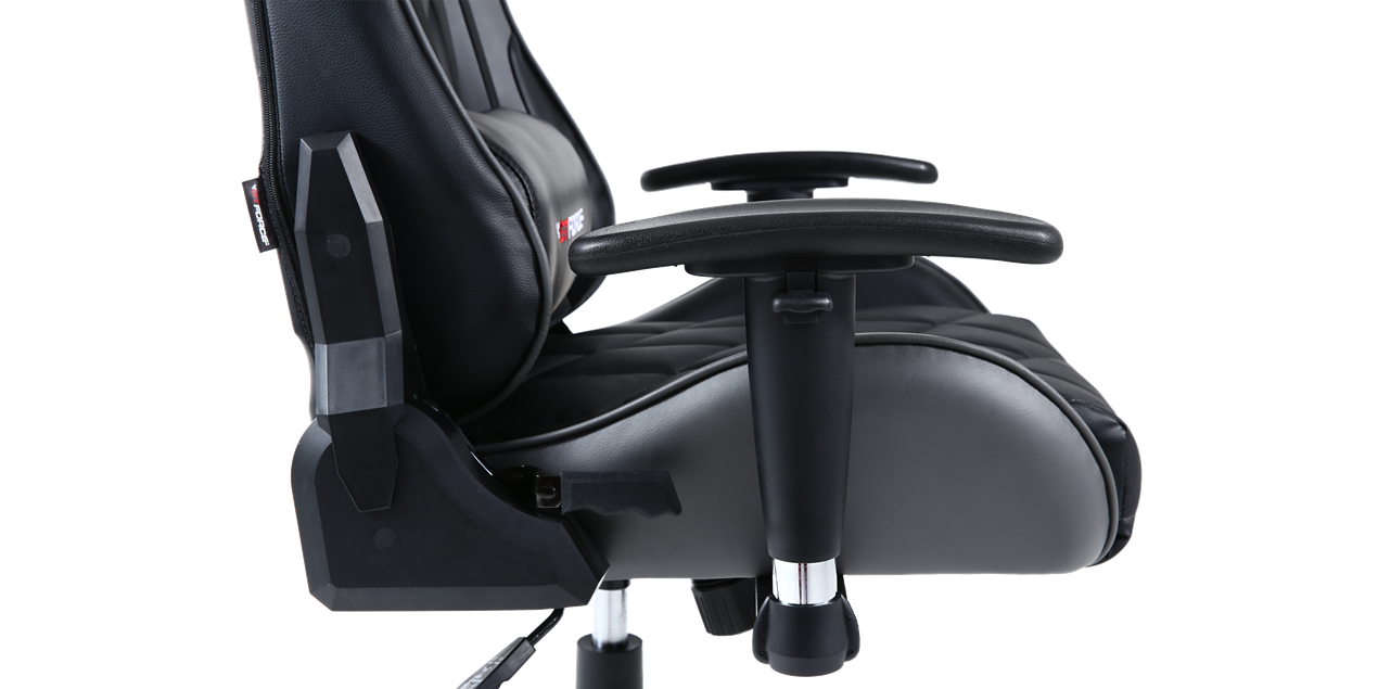 GTFORCE Pro GT Gaming Chair with Recline in Black and Grey IMG