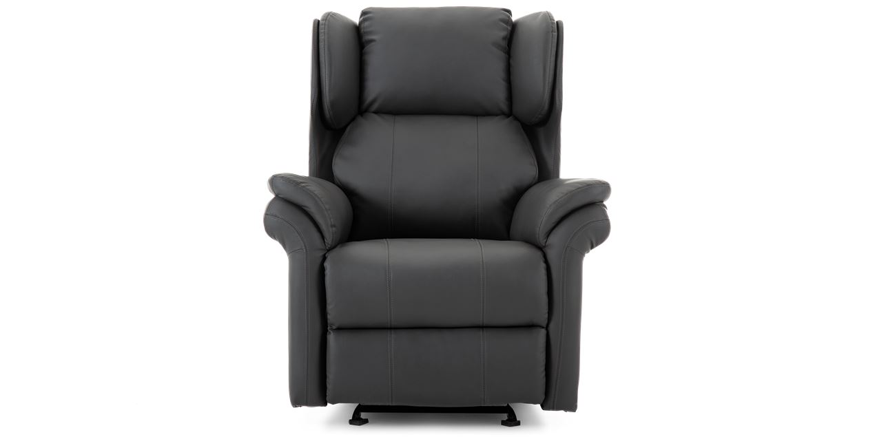 Oakley Leather Electric Recliner Chair in Slate Grey IMG