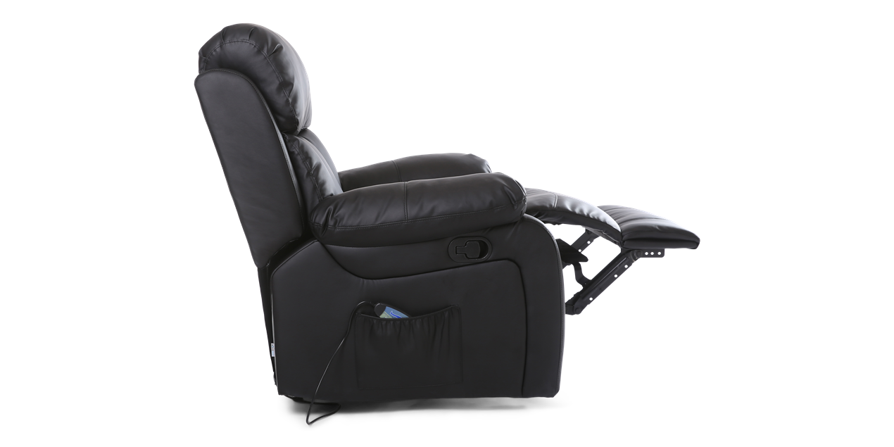 Salisbury Manual Leather Recliner Chair With Massage And