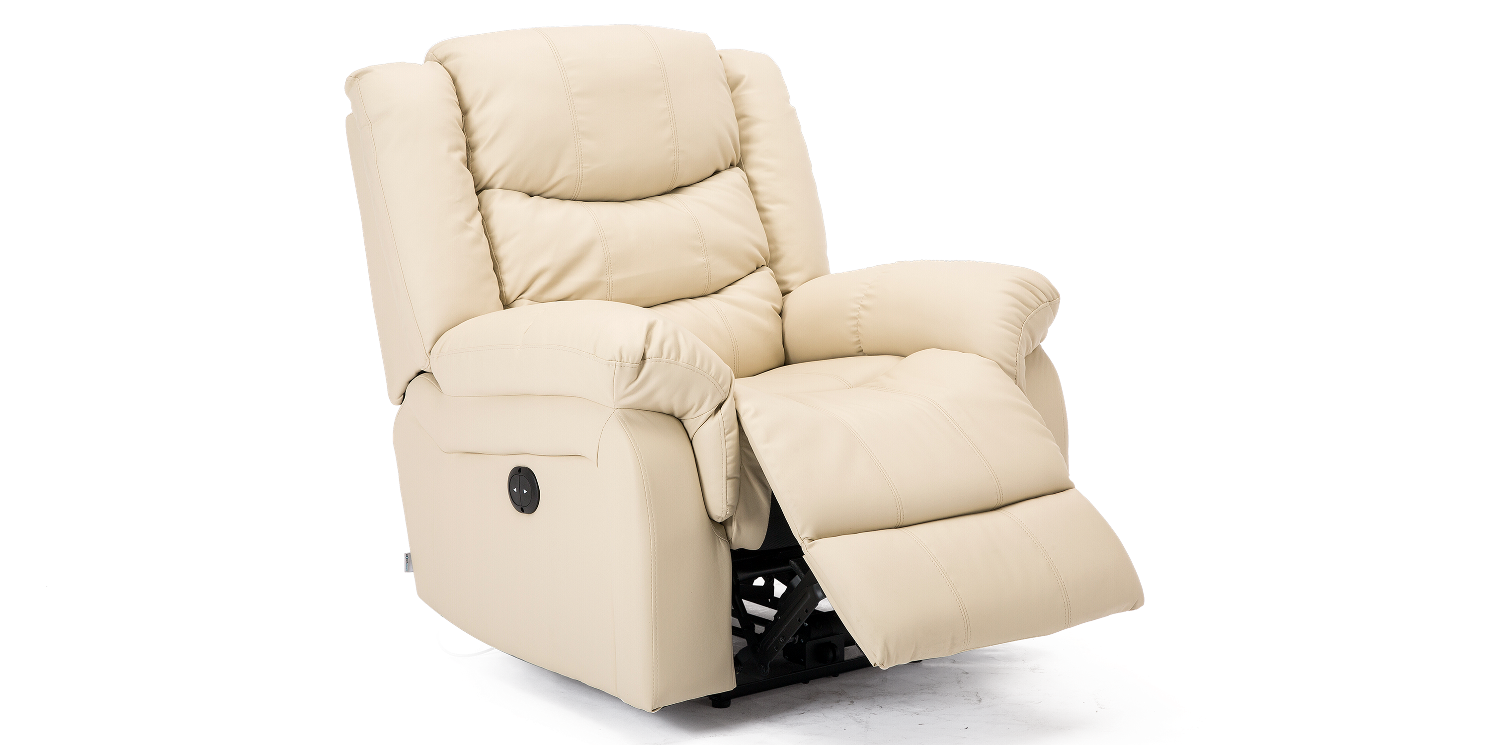 Cheshire Electric Leather Recliner Chair In Cream