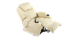 Cinemax Leather Rise Recliner Chair with Massage and Heat in Cream Image 4