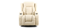 Rockingham Leather Rise Recliner Chair with Massage and Heat in Cream Image 6