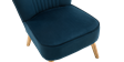 Lydia Accent Chair in Midnight Blue Velvet Image 3