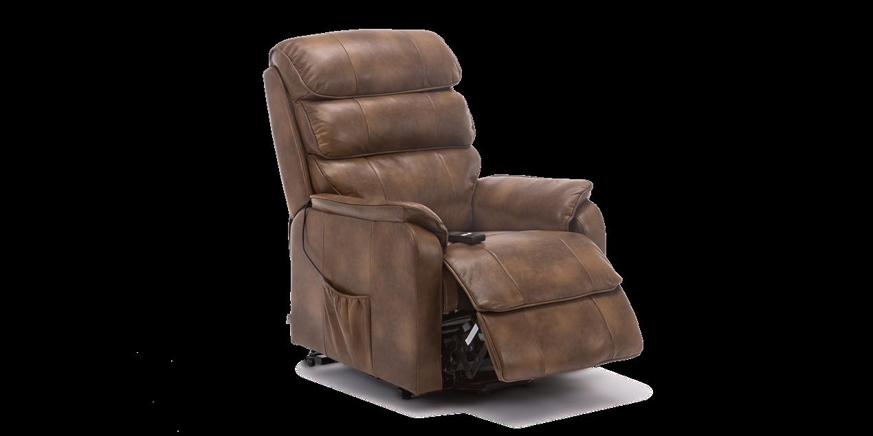 Fantastic Marlow Leather Rise Recliner Chair In Tan Creativecarmelina Interior Chair Design Creativecarmelinacom