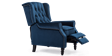 Ascott Recliner Armchair in Midnight Blue Velvet Image 4