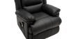 Wilson Dual Motor Rise Recliner Leather Chair in Black Image 3