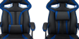 GTForce Roadster 1 Gaming Chair with Adjustable Lumbar Support in Black/Blue Image 2