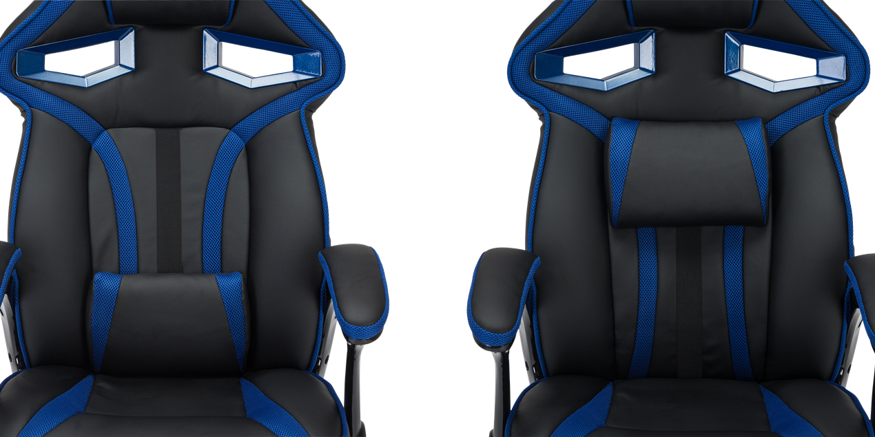 GTForce Roadster 1 Gaming Chair with Adjustable Lumbar Support in Black/Blue IMG