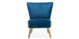 Lydia Accent Chair in Sapphire Blue Velvet Image 1