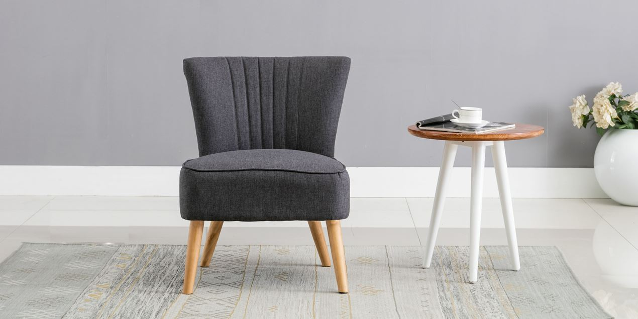 Annika Accent Chair in Charcoal Linen IMG