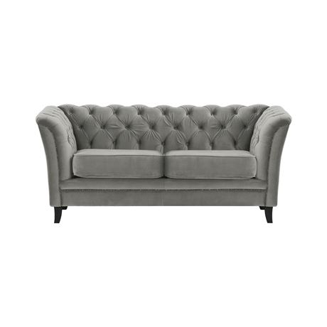 Pleasant Newgate 2 Seater Velvet Sofa In Grey Alphanode Cool Chair Designs And Ideas Alphanodeonline