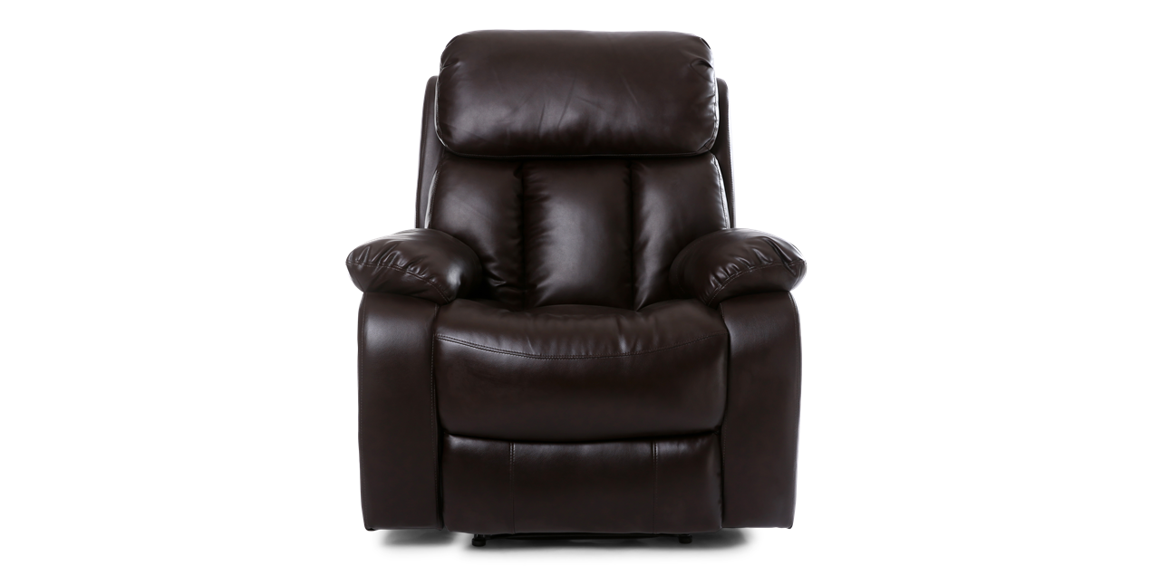 Salisbury Manual Recliner Chair With Massage And Heat In Brown IMG 5 (1270  X 635