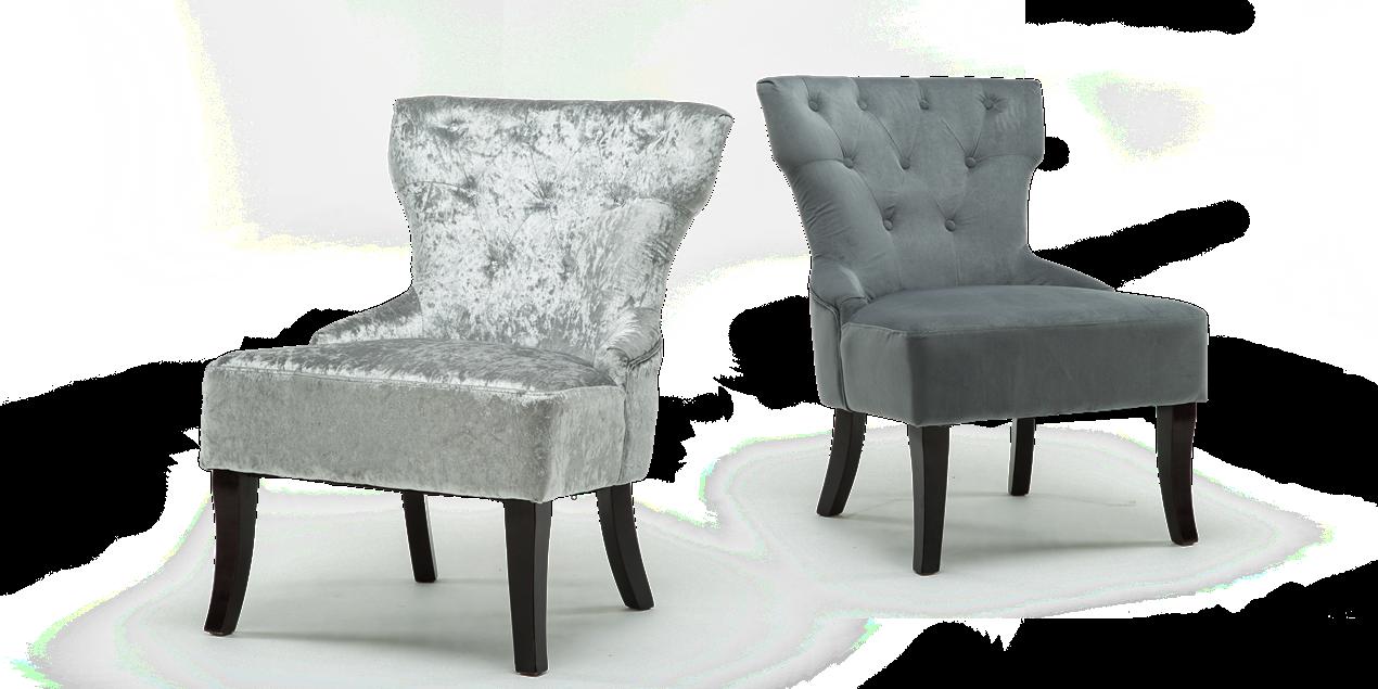 Reyna Accent Chair In Grey Velvet