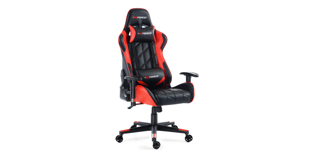 Gtforce Pro Gt Gaming Chair With Recline In Black Red