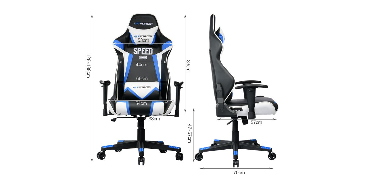 GTForce Speed FS Gaming Chair in Blue IMG