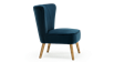 Lydia Accent Chair in Midnight Blue Velvet Image 1