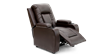 Cameron Leather Push Back Recliner Chair in Brown Image 5