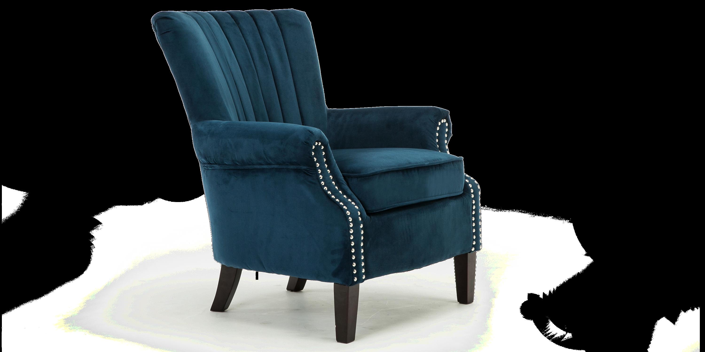Orlenca Accent Chair In Midnight Blue Velvet