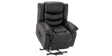 Cheshire Leather Rise Recliner Chair in Black Image 7
