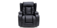 Rockingham Leather Swivel Recliner Chair with Massage and Heat in Black Image 1