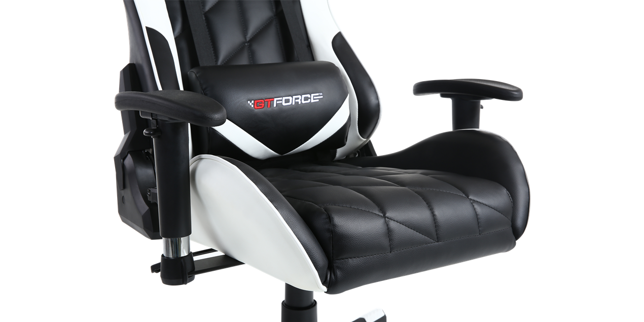 GTFORCE Pro GT Gaming Chair with Recline in Black/White IMG
